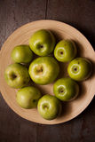 Sweet green apples Stock Photo
