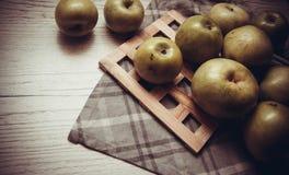 Sweet green apples Stock Photo