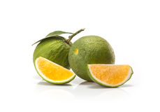 Sweet green Oranges fruit Royalty Free Stock Photos