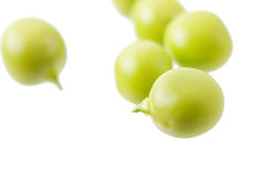 Sweet green peas. Sweet green peas isolated on white background Stock Photography