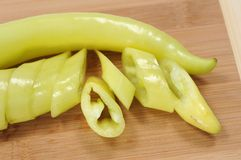Sweet green peppers Royalty Free Stock Images