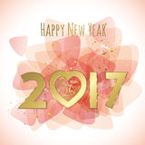 Sweet 2017 greeting card Royalty Free Stock Photos