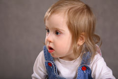 Sweet handicapped girl Stock Image