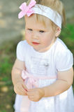 Sweet and happy baby girl Royalty Free Stock Image