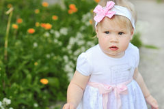 Sweet and happy baby girl Royalty Free Stock Photo