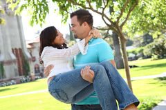 Sweet happy couple in love royalty free stock photography
