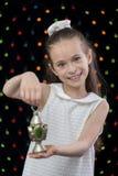 Sweet Happy Girl Holding Ramadan Lantern Royalty Free Stock Photo