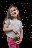 Sweet Happy Girl with Ramadan Lantern Stock Photos