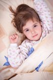 Sweet happy little girl sleeping Royalty Free Stock Image