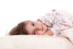 Sweet happy little girl sleeping Royalty Free Stock Photography