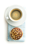 Sweet hazelnut muffins and coffee cup. Stock Photography