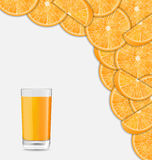 Sweet Healthy Background with Sliced of Oranges Stock Photo