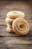 Sweet healthy cookie on the vintage table Royalty Free Stock Photo