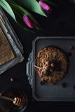 Sweet healthy cookies with hazelnuts Royalty Free Stock Photos