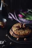 Sweet healthy cookies with hazelnuts Stock Photos