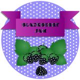 Illustration of blackberry jam stickers vector illustration