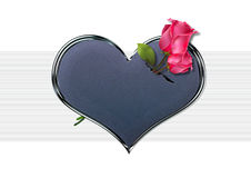 Sweet heart. Valentine heart with sweet roses Stock Photos