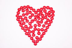 Sweet Heart. Red heart of chocolate sweets Royalty Free Stock Photography