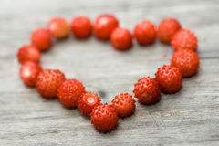 Sweet-heart. Sweet heart made of strawberries close up Stock Photos