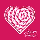 Sweet heart - background with candy cane spiral Stock Photography