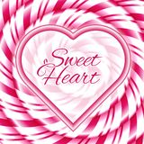 Sweet Heart - Background With Candy Cane Spiral Royalty Free Stock Image