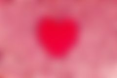 Lovely Sweet Heart. A Blurry Sweet Heart for Lover Concept stock image
