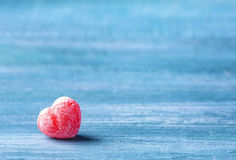 Sweet heart candy. On a blue background Stock Photo