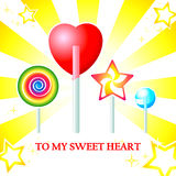 Sweet heart card Royalty Free Stock Image
