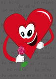 Sweet heart cartoon for special days. Heart with great love , heart with rose, heart with hope Stock Images