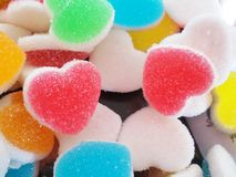 Sweet heart colorful dessert. close up detail. Stock Photography