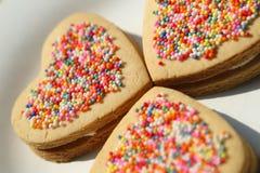 Sweet heart cookies Stock Photography