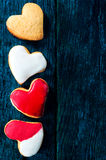Sweet heart cookies Royalty Free Stock Image