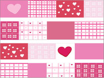 Sweet Heart design for background. Design of pink sweet heart for background royalty free illustration