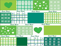 Sweet Heart design for background. Design of green sweet heart for background stock illustration
