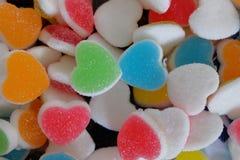 Sweet heart dessert texture. close up detail. Stock Image