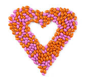 Sweet heart made from candies Stock Images