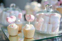 Sweet heart marshmallow Royalty Free Stock Image