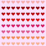 Sweet heart pattern colorful background Royalty Free Stock Images