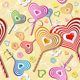 Sweet heart pattern, old paper. Royalty Free Stock Image