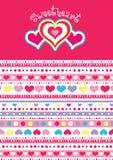 Sweet heart pattern. Royalty Free Stock Photo