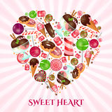 Sweet heart poster for sweet shop Stock Image