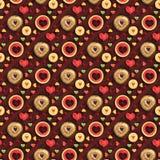 Sweet heart seamless pattern applied. Heart shaped fruit and sweets seamless pattern applied royalty free stock photo