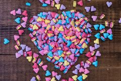 Sweet heart shaped candy Stock Photo