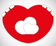 Sweet heart valentine card. Stock Photo