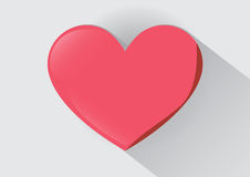 Sweet heart in Valentine day. Vector Pink Heart so Sweet in gray blackground Royalty Free Stock Photos