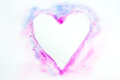 Sweet heart, watercolor painting Stock Images
