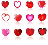 Sweet hearts. An abstract iilustration of heart icons Stock Photo