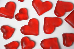 Sweet hearts. Isolated  on the white background Royalty Free Stock Image