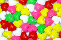 Sweet hearts. Sweets in the form of hearts Stock Image
