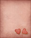 Sweet hearts background Stock Image
